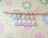 Set of 5 Silver Yarn Lover Snag Free Stitch Markers for Knitting, Knitting Marker, Progress Marker, WIP Marker