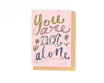 Thinking Of You Card - Sympathy Card - Encouragement Card - Greeting Card - Just Because Card - Blank Inside - I'm Sorry Card