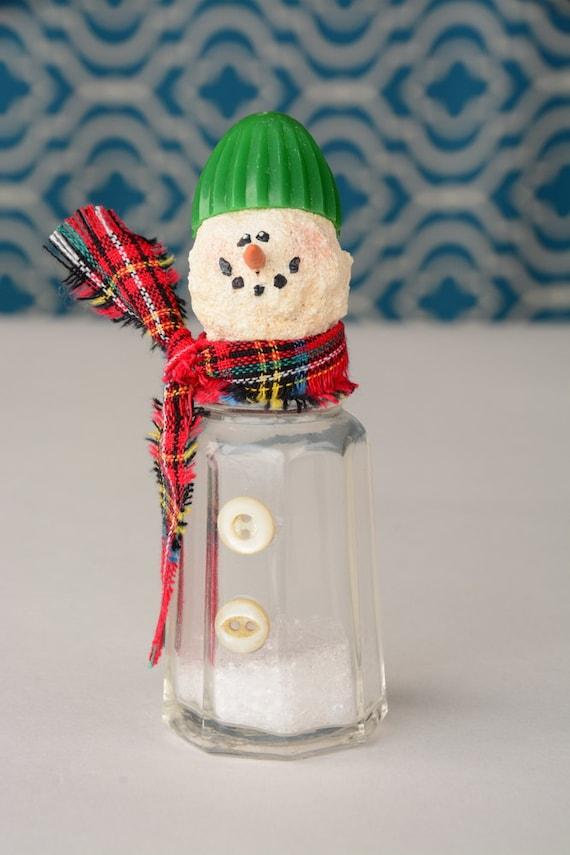 Salt Shaker Snowman Vintage Salt Shaker Snowman By Shopch2