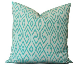 Outdoor China Seas Aqua IV Pillow Cover in Turquoise