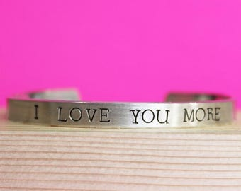 I Love You More Bracelet, Anniversary Jewelry, Anniversary Gift, Love Bracelet, Couples Gift Girlfriend Wife Mom Daughter