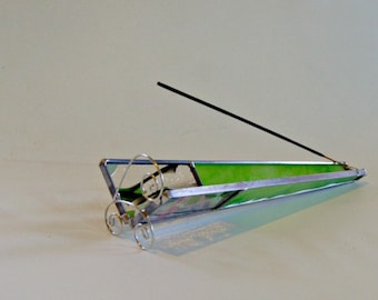 Stained Glass Incense Burner Incense Stick Holder Incense Sled Yoga Smoker Gift