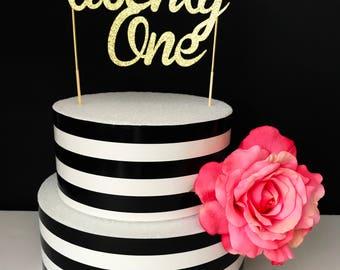 Gold- twenty one - Cake Topper- Centerpiece- 21 cake topper