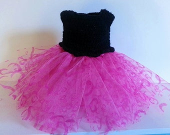 Valentine's Day Heart tutu dress for 18 inch doll