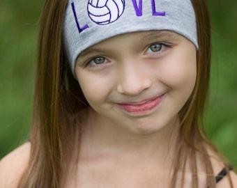 Volleyball Embroidered Headband, Volleyball Gifts, Volleyball Team Gift, Embroidery Gift, Sports Headbands, Headband for Athletes