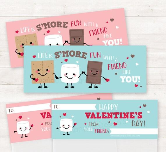 PRINTABLE Smores Valentines School Valentines Valentines Day – School Valentines Cards