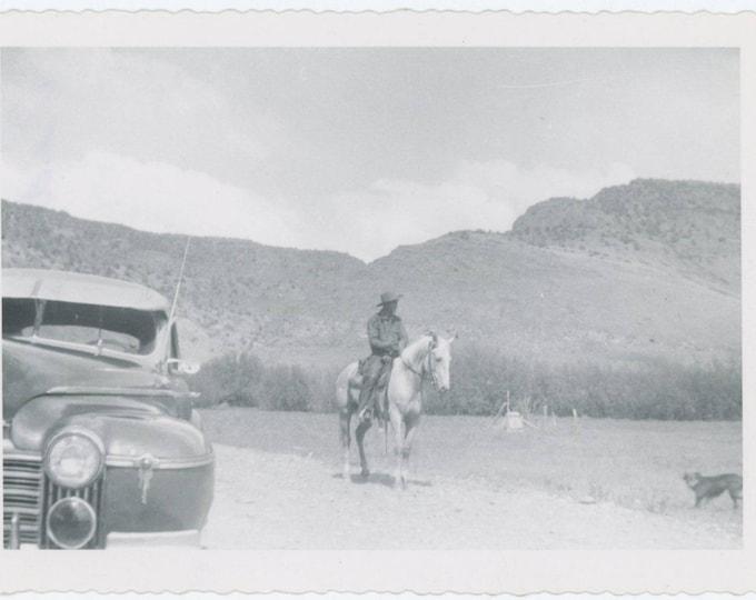 "Vintage Snapshot Photo: ""Pedro & Little Bill"" c1940s (75575)"