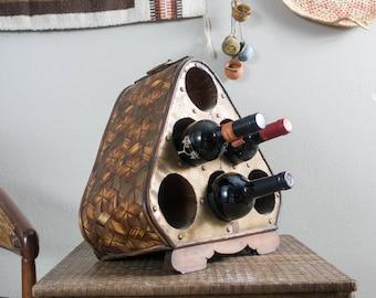 Vintage Wine Rack Boho Wine Holder