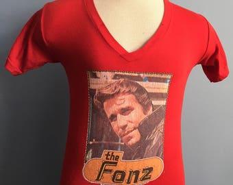 70s Vintage Happy Days Fonzie 1976 The Fonz sleep T-Shirt - SMALL