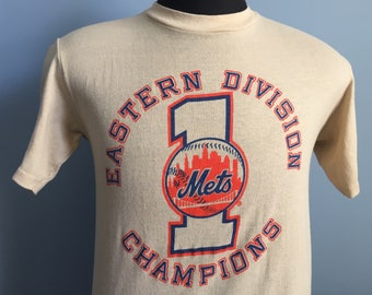 80s Vintage New York Mets Eastern Division Champs T-Shirt - MEDIUM