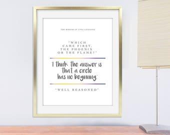 Luna Lovegood Print, Printable Luna Lovegood Quote, Printable Harry Potter Quote, Printable Luna Lovegood Wall Art, Printable Luna Art