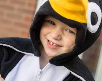 Penguin Jacket - Penguin hoodie - Penguin zip up - penguin costume - Penguin kigurumi