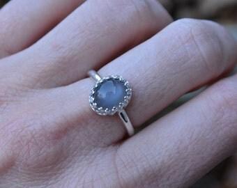 Moonstone Ring, Grey Moonstone Ring, Grey Moonstone, Moonstone, Sterling Silver, Silver Moonstone Ring, Grey Gemstone