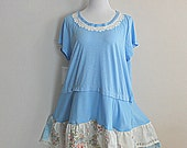 Plus Size Tunic Shabby Mori Girl Women's Unique OOAK Clothing Ladies Tattered Shirt
