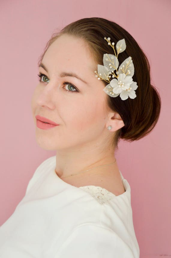 Bridal Hair Comb - Floral Hairpiece