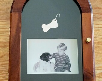 Arched Display Box - Solid Wood Shadow Box - Memory Box - Collectible Display Keepsakes  Frame - Keepsake Display Case - Glass Front Display