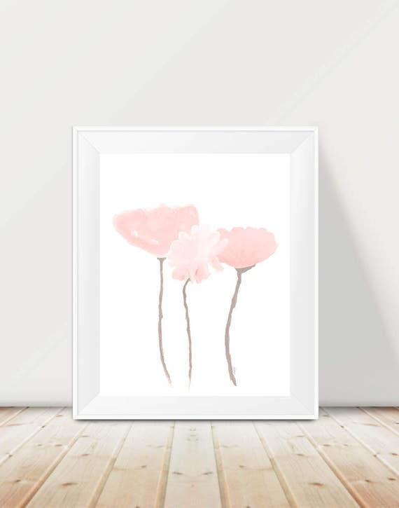Blush Flower Artwork, 11x14