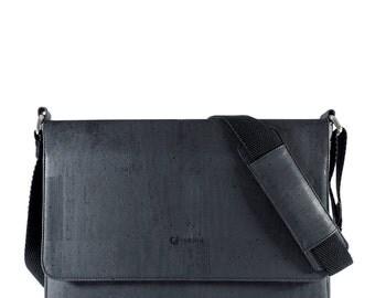 """Messenger Bag for Men - Laptop briefcase for 15"""" Laptop -  Cork Messenger Bag - Vegan Gifts (CK148)"""