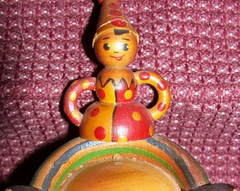 Antique Wooden Roly Poly Toy