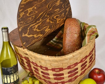 "Picnic Basket - Hand Woven in Vintage Style - ""Peggy"""