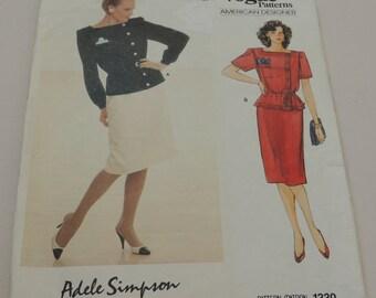 ADELE SIMPSON Vogue 1330 Uncut size 16