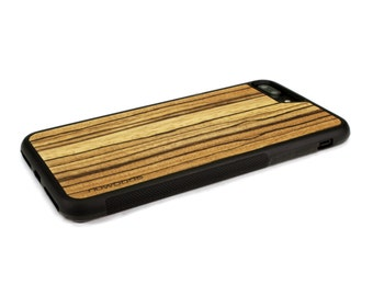 iPhone 7 Plus Case Wood Zebrawood, Wood iPhone 7 Plus Case, iPhone 7 Plus Wood Case