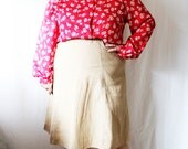 Plus Size - Vintage FINAL SALE Red & White Floral Jacquard Blouse (Size 24W)