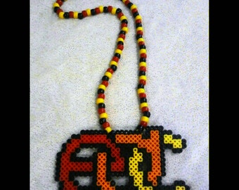 EDC Kandi Necklace - Red, Orange, Yellow
