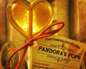 APHRODISIAC LOLLIPOPS (5 pop sampler): Delicious romantic gift for date, wedding or bachelorette party. Organic and herbal.
