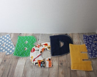 Handmade Fabric Alphabet Letters - Set of 26 Handmade, Brightly Colored, Montessori Letters
