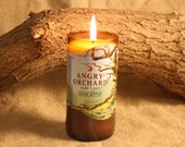 Recycled Beer Bottle Candle from Angry Orchard Beer Bottle, Apple Ale, Beer Scent, Spiced Cider, Apple Orchard Scent, Caramel Apple Cider
