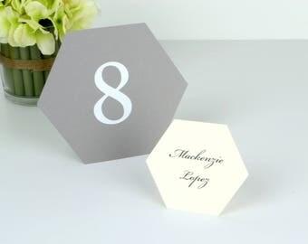 Geometric Hexagon Table numbers 1-10