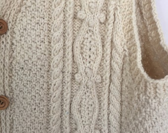 Vintage Cable Knit Fisherman Vest Size XL