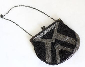 1920s beaded purse // art deco purse // vintage beaded purse