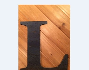 """Large 20"""" Raw or Painted Metal Letter L by PrecisionCut on Etsy"""