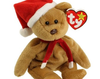Ty Vintage Beanie Baby - Retired - 1997 Holiday Teddy - 4th Generation - 1996 - Mint Condition