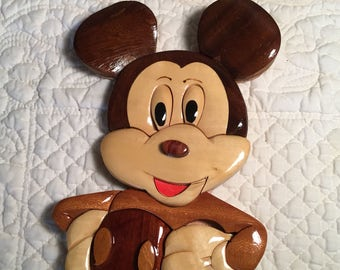 Mickey Mouse Wooden Hanging Homemade Disney Cut-Out Collectible NEW