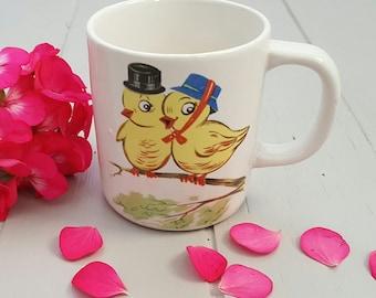 Baby Chicks Coffee mug Japan 1960's