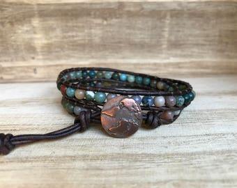 Mother Earth Double Wrap Bracelet