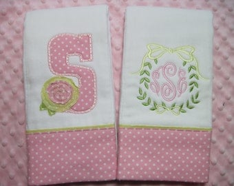 Personalized Baby Girl Burp Cloths