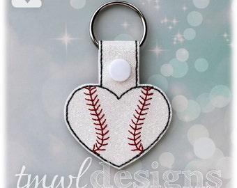 Baseball Softball Heart Key FOB Digital Design File