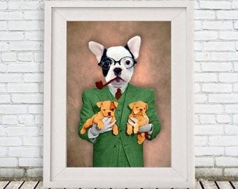 French Bulldog Print by Coco de Paris