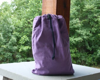 Personalized Canvas Lavender Cinch Backpack