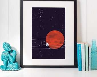 Space Planet Solar System Art Poster
