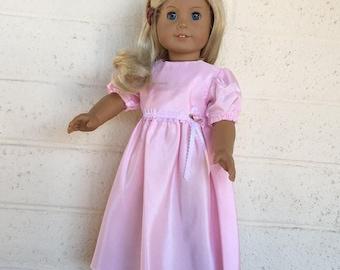 18 inch Doll Clothes - Pink Taffeta Dress