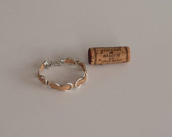 Infinity Cork Bracelet, Wine Cork Jewelry, Cork Jewelry, Wine Cork Crafts, Wine Gift, Infinity Bracelet
