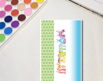 Rainbow Monsters - Strips Whimsical Watercolor Planner Sticker Sheets, The Ones with Rainbow Monsters Collection