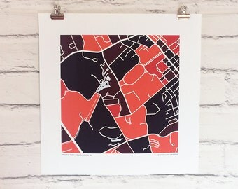 Virginia Tech Map Print
