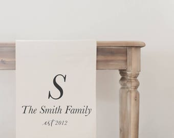 Personalized Table Runner - Family Name