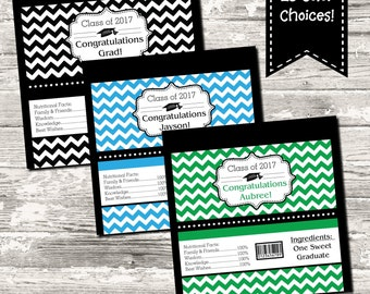 23 Colors Chevron Graduation Candy Wrapper High School College Kindergarten Pre School Digital Printable